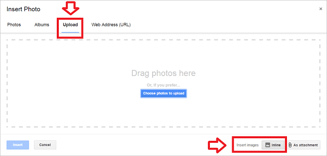'Upload' the downloaded image