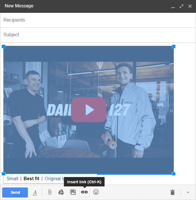 Attach your YouTube video link to your YouTube screenshot step 1