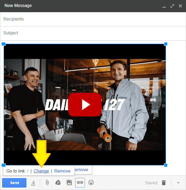 Attach your YouTube video link to your YouTube screenshot step 2